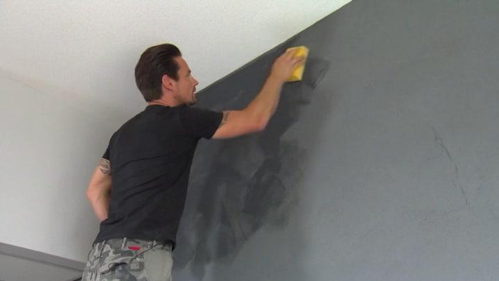 Muren betonlook geven muur in betonlook maken voordemakers
