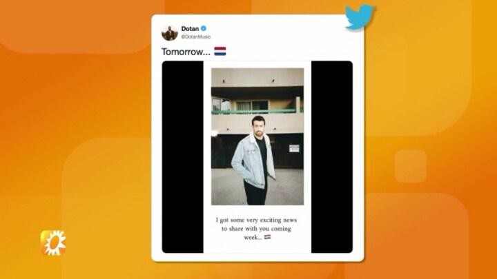 Zanger Dotan met groot nieuws: Gaat op clubtour