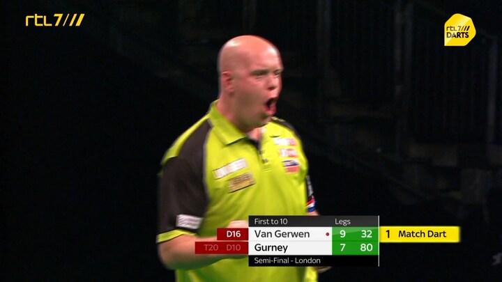 Michael van Gerwen opnieuw in finale Premier League Darts