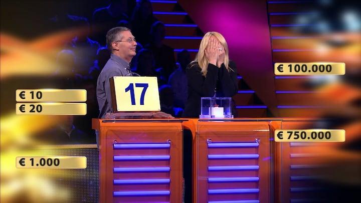 Deelnemer verliest enorm geldbedrag in Miljoenenjacht-finale