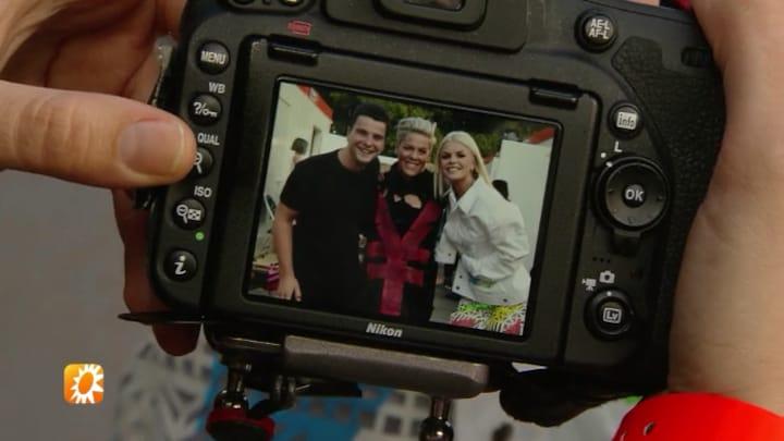 Davina Michelle ontmoet haar idool Pink: 'Sprakeloos'
