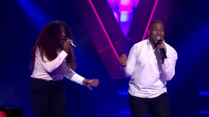 The Voice: Bekijk optreden Elroy & Rubenia met Ain't No Mountain High Enough (Blind Auditions)