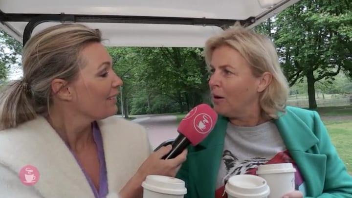 Irene Moors dolblij als gastpresentatrice van Koffietijd