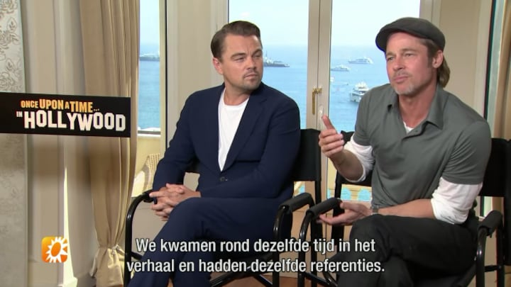 Brad Pitt en Leonardo DiCaprio over samenwerking in Once Upon a Time in Hollywood