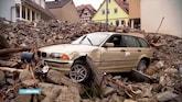 Overstromingen laten puinhoop achter in Duits dorp