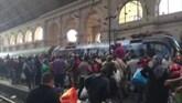 Chaos in Boedapest: 'Waar gaat deze trein heen?'