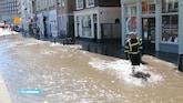 Winkels ondergelopen na gesprongen leiding in Den Haag