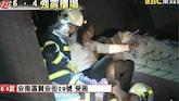 Gebouwen Taiwan storten in door krachtige aardbeving