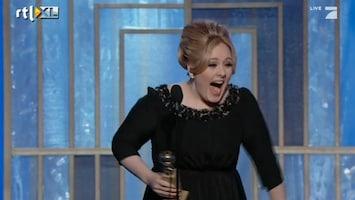 RTL Nieuws Adèle 'pist zichzelf in de broek' bij Golden Globes