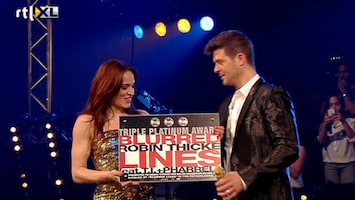 X Factor Triple platinum voor Robin Thicke