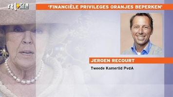 RTL Nieuws PvdA: onduidelijk of koningin belasting betaalt
