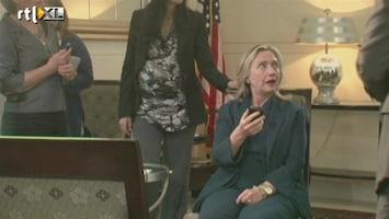RTL Nieuws Clintons eerste reactie op nieuws Khadaffi