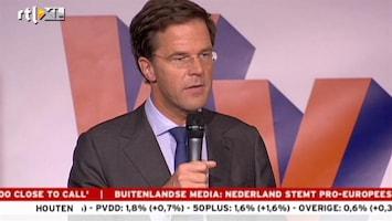 RTL Nieuws Rutte: Dit is een hele grote steun in de rug