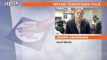 RTL Nieuws 'Duitsland niet blij met verkiezingsuitslag Italië'