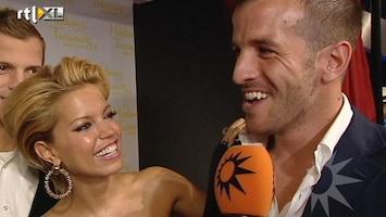 RTL Boulevard Sylvie en Rafael van der Vaart in Madame Tussaud