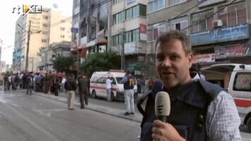 RTL Nieuws Roel Geeraedts bij uitgebrand mediagebouw