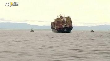 RTL Nieuws Olie uit gestrand schip Nieuw-Zeeland gehaald