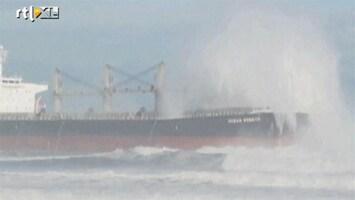RTL Nieuws Groot schip strand op kust Chili