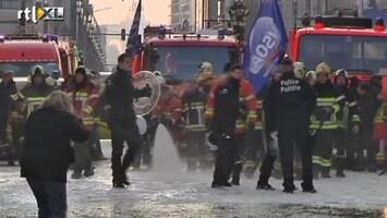 RTL Nieuws Belgische brandweer botst in Brussel