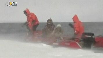 RTL Nieuws Vissers van drijvende ijsschots gered