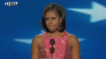 RTL Nieuws Emotionele woorden Michelle Obama