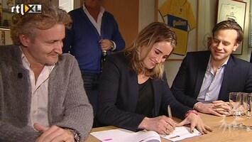 RTL Boulevard Contractondertekening Lieke van Lexmond