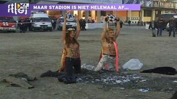 RTL Nieuws Topless protest bij opening EK-stadion