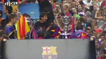 RTL Nieuws FC Barcelona feestelijk onthaald