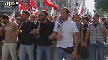 RTL Nieuws Staking om loonsverlaging Griekenland