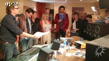 RTL Boulevard BN'ers in de studio voor Bedanklied Beatrix