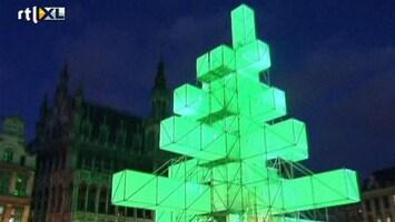 RTL Nieuws Kunst of kitsch? Ophef over elektronische kerstboom