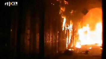 RTL Nieuws Beroemde oude markt Aleppo in brand
