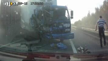 Editie NL Vrachtwagenchauffeur heeft 'klein' beetje geluk