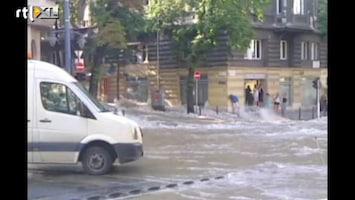 RTL Nieuws Overstroming Boedapest door waterleiding