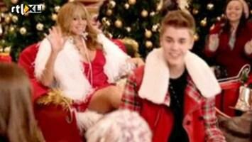 RTL Boulevard Justin Bieber en Mariah Carey vieren samen Kerst