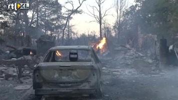 RTL Nieuws Beetje hoop voor brandweer in Texas