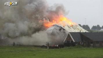 RTL Nieuws Grote uitslaande brand boerderij Hattum