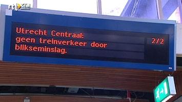 RTL Nieuws NS bang voor problemen door noodweer