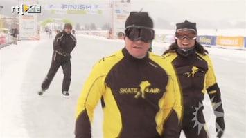 RTL Boulevard Martijn en Amanda Krabbe finishen op Weissensee