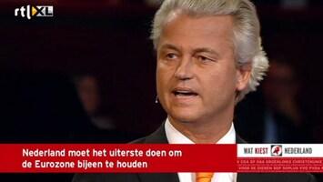 RTL Nieuws Wilders: geen cent meer naar Zuid-Europa