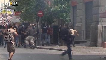 RTL Nieuws Rellen bij massale demonstratie Athene