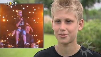 RTL Boulevard Dertienjarige Arno zingt met Bruce Springsteen