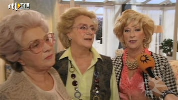 RTL Boulevard Lachen op de set bij Golden Girls