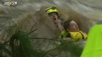 RTL Nieuws Spectaculaire redding uit woeste overstroming