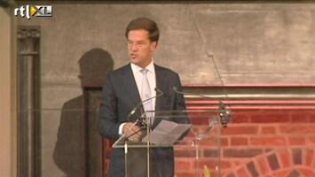 RTL Nieuws Mark Rutte spreekt de Olympiërs toe