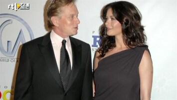 RTL Boulevard Huwelijk Michael Douglas & Catherine Zeta Jones op springen