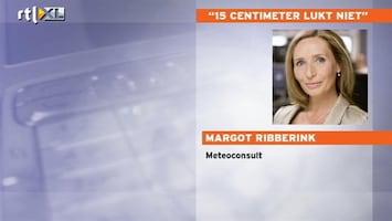 RTL Nieuws '15 centimeter op hele route lukt niet'