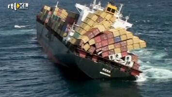 RTL Nieuws Spanning bij berging schip Nieuw-Zeeland