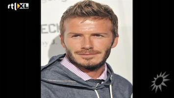 RTL Boulevard David Beckham met voetballen