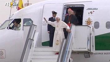 RTL Nieuws Paus aangekomen in onrustig Madrid